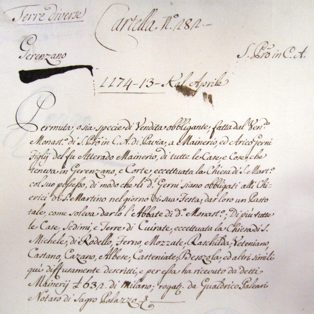Pergamena del 1174