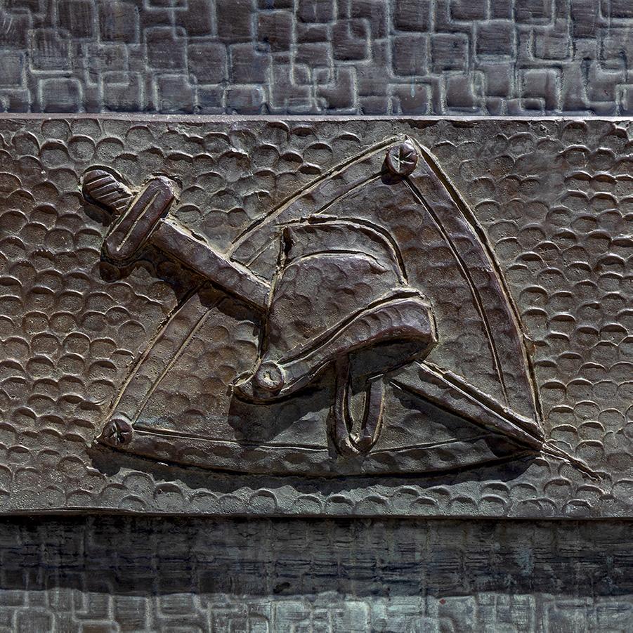 Portone di destra (Particolare simboli di S. Paolo)